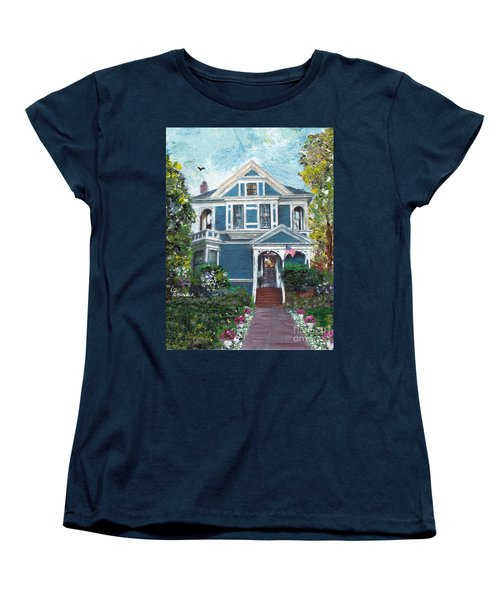 Alameda 1887 - Queen Anne Women's T-Shirt (Standard Cut) by Linda Weinstock