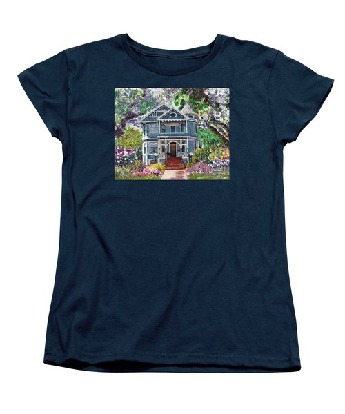 Alameda 1890 Queen Anne Women's T-Shirt (Standard Cut) by Linda Weinstock