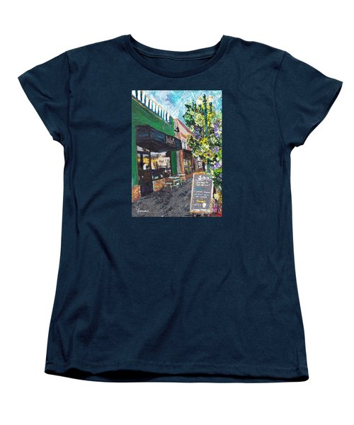 Alameda Julie's Coffee N Tea Garden Women's T-Shirt (Standard Cut) by Linda Weinstock