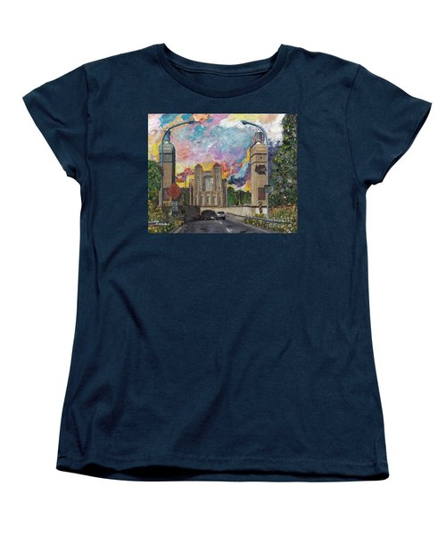 Alameda Webster Posey Tube Portal 1928 Women's T-Shirt (Standard Cut) by Linda Weinstock
