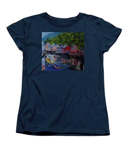 Alaska. Ketchikan Women's T-Shirt (Standard Cut) by Anna  Duyunova