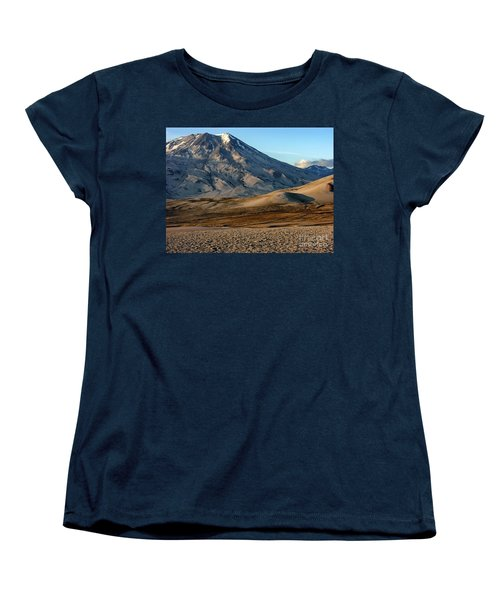 Women's T-Shirt (Standard Cut) featuring the photograph Alaska Landscape Scenic Mountains Snow Sky Clouds by Paul Fearn
