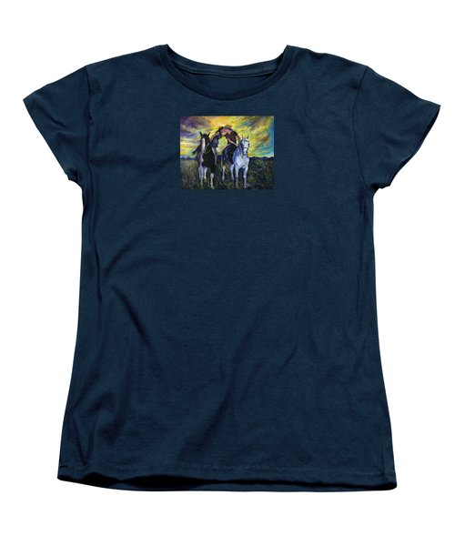 Alberta Kiss Women's T-Shirt (Standard Cut) by Anna  Duyunova