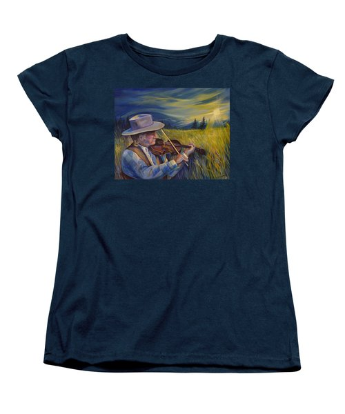Alberta Lullaby Women's T-Shirt (Standard Cut) by Anna  Duyunova