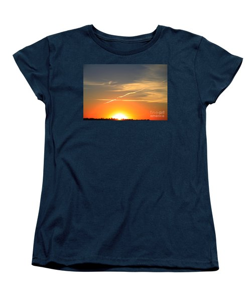 Alberta Sunset Women's T-Shirt (Standard Cut) by Alyce Taylor