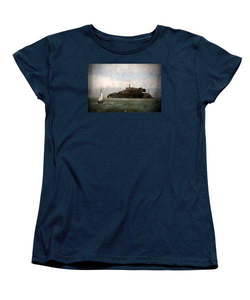 Alcatraz Island Women's T-Shirt (Standard Cut) by RicardMN Photography
