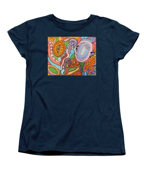 Women's T-Shirt (Standard Cut) featuring the painting All Seeing Egg Salad by Barbara St Jean