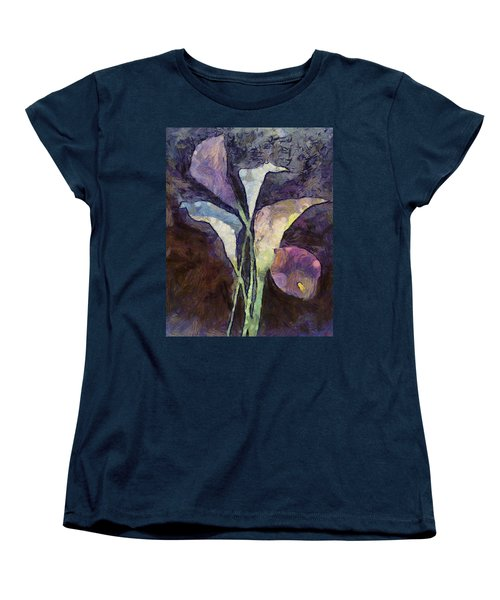 Women's T-Shirt (Standard Cut) featuring the painting All The Sadness by Joe Misrasi