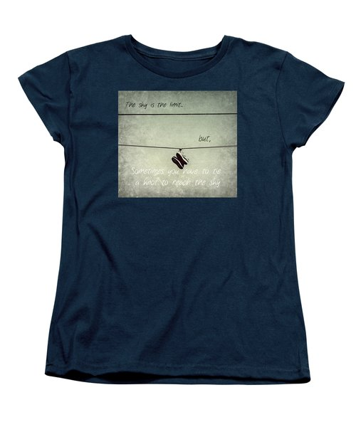 Women's T-Shirt (Standard Cut) featuring the photograph All Tied Up Inspirational by Melanie Lankford Photography