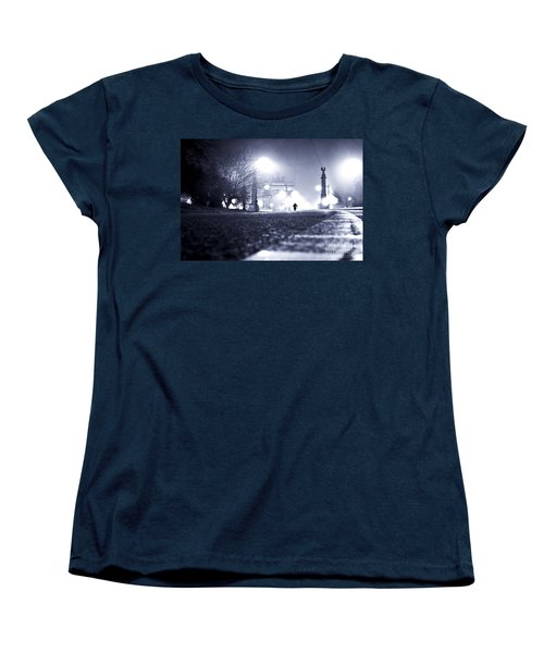 Alone Brooklyn Nyc Usa Women's T-Shirt (Standard Cut) by Sabine Jacobs