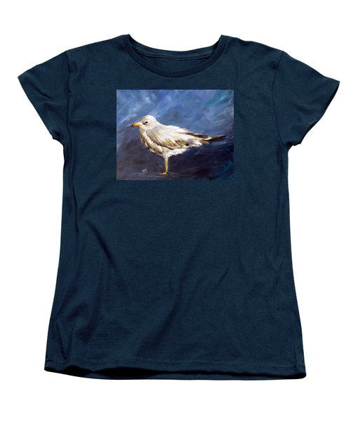 Women's T-Shirt (Standard Cut) featuring the painting Alone by Dorothy Maier
