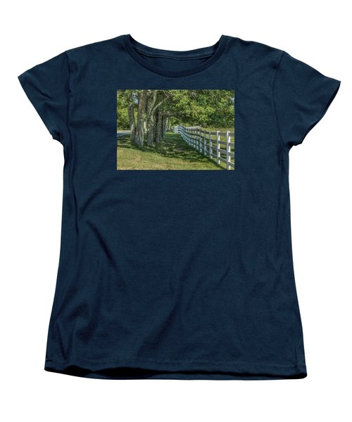 Women's T-Shirt (Standard Cut) featuring the photograph Along A Country Road by Jane Luxton