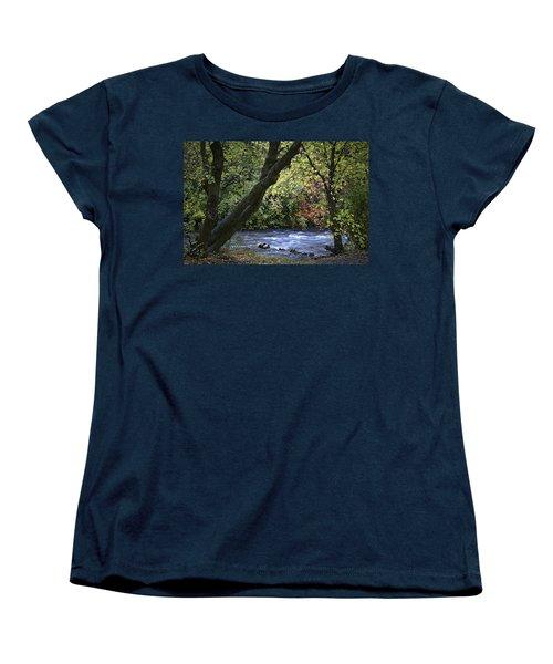 Women's T-Shirt (Standard Cut) featuring the photograph Along Swift Waters by Priscilla Burgers