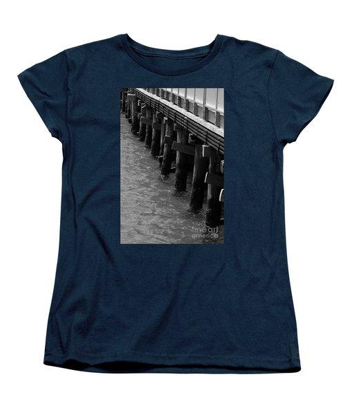 Along The Pier Women's T-Shirt (Standard Cut) by Barbara Bardzik