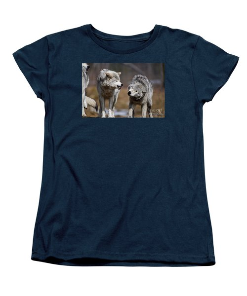 Women's T-Shirt (Standard Cut) featuring the photograph Alpha Displeasure by Wolves Only