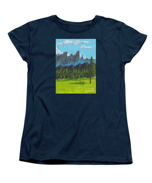 Women's T-Shirt (Standard Cut) featuring the painting Alpine Meadow by David Jackson
