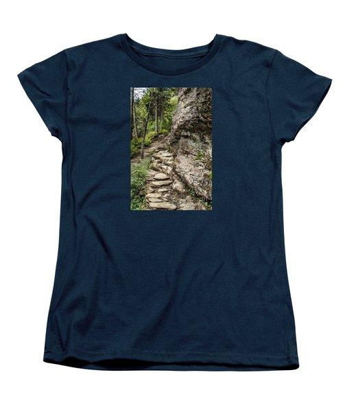 Women's T-Shirt (Standard Cut) featuring the photograph Alum Cave Trail by Debbie Green