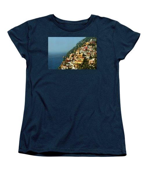 Amalfi Coast Hillside II Women's T-Shirt (Standard Cut) by Steven Sparks