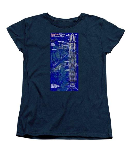 American Airlines 747 Women's T-Shirt (Standard Cut) by Daniel Janda