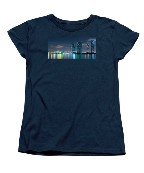 American Airlines Arena And Condominiums Women's T-Shirt (Standard Cut) by Carsten Reisinger