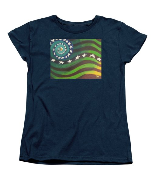 American Flag Reprise Women's T-Shirt (Standard Cut) by Thomasina Durkay