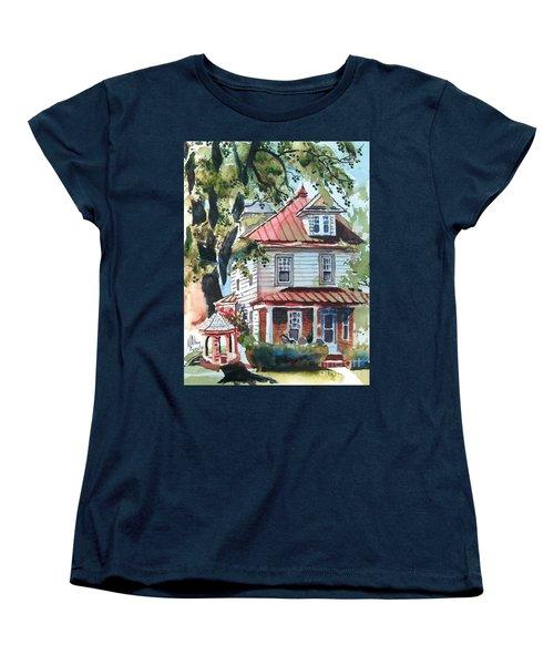 American Home With Children's Gazebo Women's T-Shirt (Standard Cut) by Kip DeVore