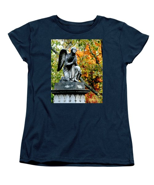 Women's T-Shirt (Standard Cut) featuring the photograph An Angels' Prayer by Lesa Fine