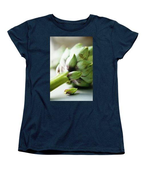 An Artichoke Women's T-Shirt (Standard Cut) by Romulo Yanes