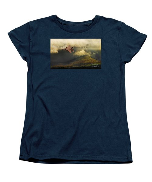 An Eagle Over Cumbria Women's T-Shirt (Standard Cut) by Meirion Matthias