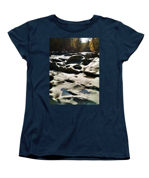 Women's T-Shirt (Standard Cut) featuring the photograph Ancient River by Janice Spivey