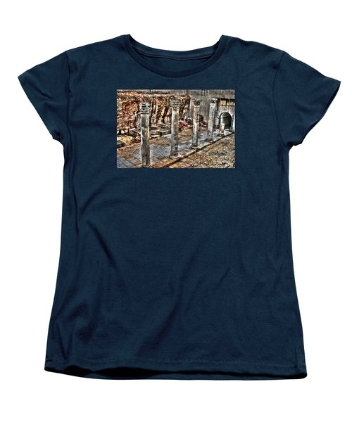Women's T-Shirt (Standard Cut) featuring the photograph Ancient Roman Columns In Israel by Doc Braham