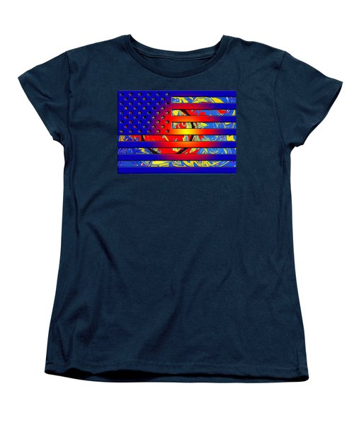 And The Flag Still Stands Women's T-Shirt (Standard Cut) by Robert Margetts
