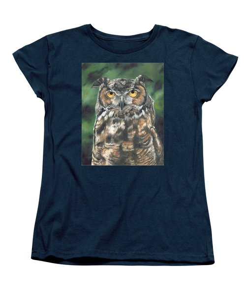 Women's T-Shirt (Standard Cut) featuring the painting And You Were Saying by Lori Brackett