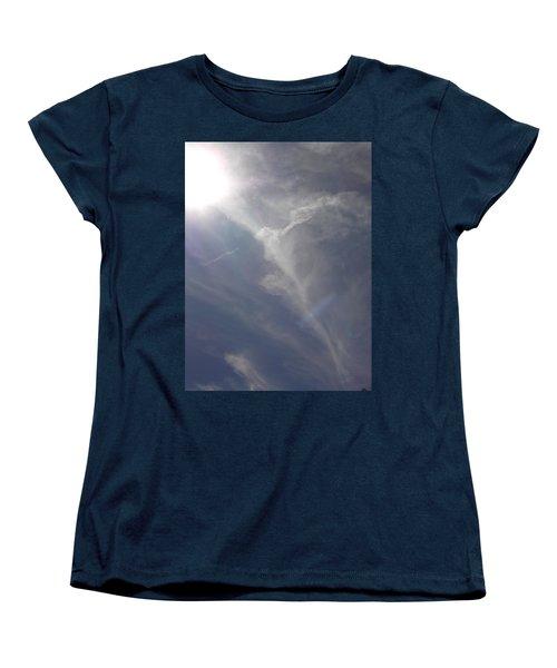 Women's T-Shirt (Standard Cut) featuring the photograph Angel Holding Light by Deborah Moen