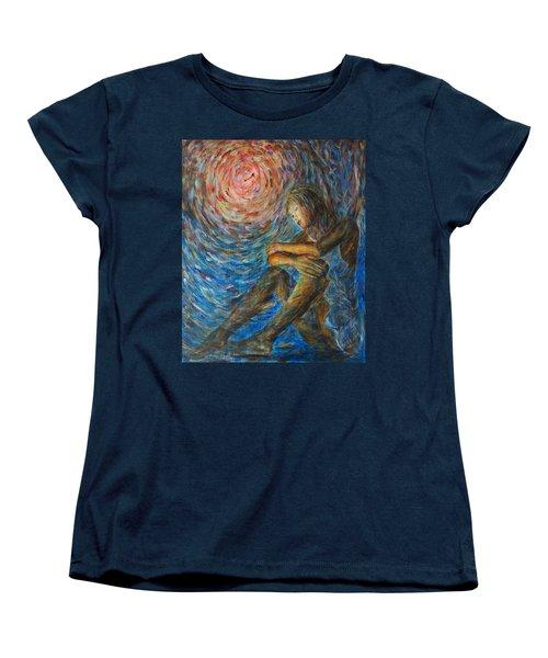 Angel Moon I Women's T-Shirt (Standard Cut) by Nik Helbig