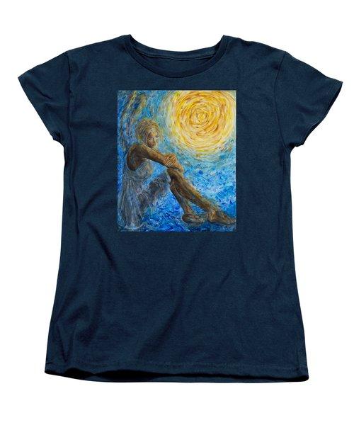 Angel Moon II Women's T-Shirt (Standard Cut) by Nik Helbig
