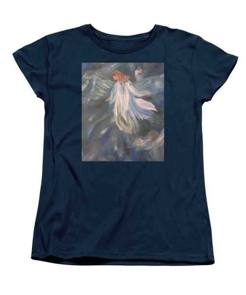 Angels Watching Over Us Women's T-Shirt (Standard Cut) by Christy Saunders Church