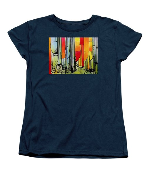 Women's T-Shirt (Standard Cut) featuring the painting Anger Serves No Purpose by Jason Williamson