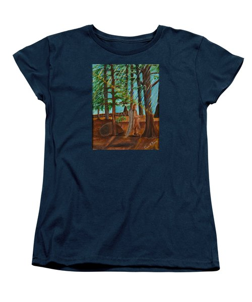 Women's T-Shirt (Standard Cut) featuring the painting Angle In Idyllwild by Cassie Sears