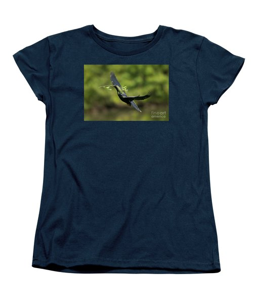 Anhinga Women's T-Shirt (Standard Cut) by Anthony Mercieca