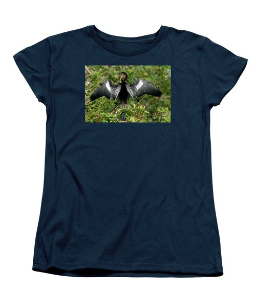 Anhinga Sunning Women's T-Shirt (Standard Cut) by Anthony Mercieca