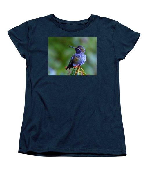 Annas Hummingbird Women's T-Shirt (Standard Cut) by Randy Hall