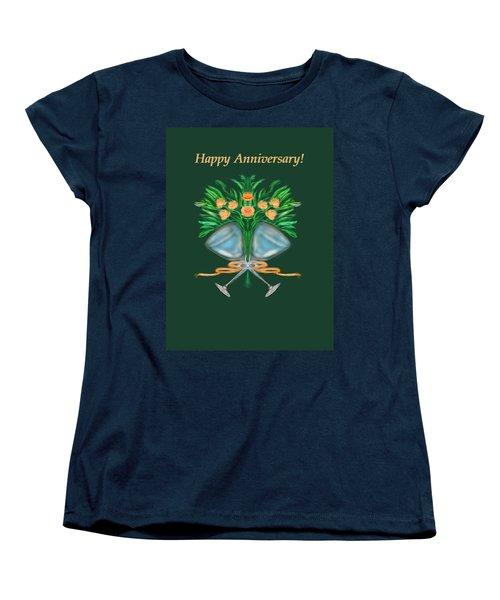 Women's T-Shirt (Standard Cut) featuring the digital art Anniversary Bouquet by Christine Fournier