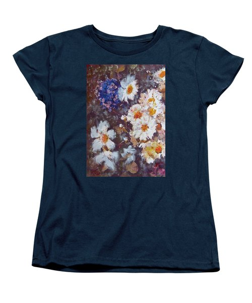 Another Cluster Of Daisies Women's T-Shirt (Standard Cut) by Richard James Digance