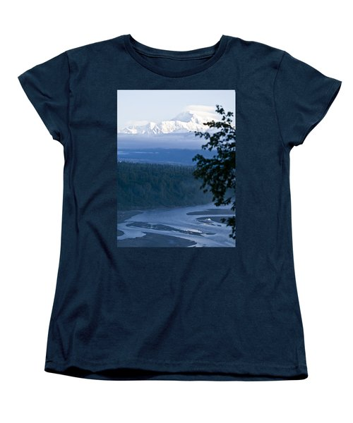 Another Denali View  Women's T-Shirt (Standard Cut) by Tara Lynn