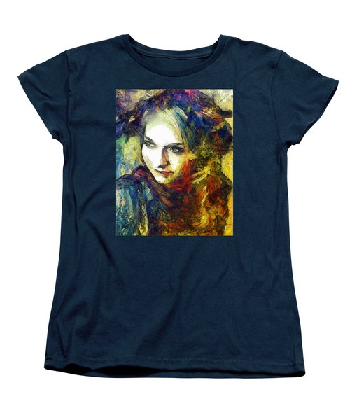 Women's T-Shirt (Standard Cut) featuring the drawing Another Lonely Day by Joe Misrasi