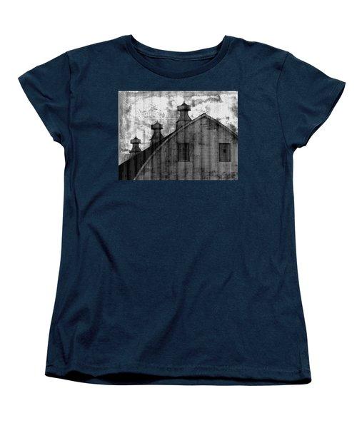 Antique Barn - Black And White Women's T-Shirt (Standard Cut) by Joseph Skompski