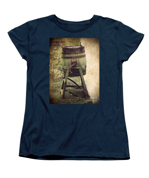 Women's T-Shirt (Standard Cut) featuring the photograph Antique Butter Churn by Linsey Williams