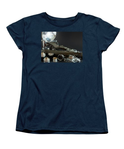 Antique Cameras Women's T-Shirt (Standard Cut) by Gunter Nezhoda