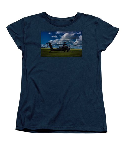 Apache Gun Ship Women's T-Shirt (Standard Cut) by Martin Newman